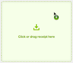 drag and drop expense receipts