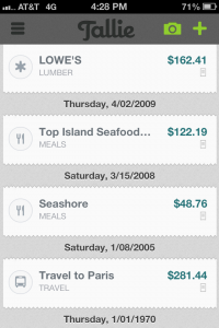 Tallie Expense Report App Multi Expense View